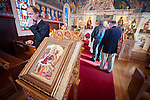 Icon of the Nativity, Christmas Liturgy Service, St. Sava Serbian Orthodox Church, Jackson, Calif.