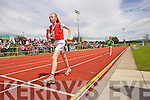 Carrie Daly, Kenmare winning the girls u-14 800m Walk race at the Kerry community games athlethics finals at an Riocht, Castleisland on Sunday.