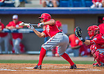29 February 2016: Washington Nationals infielder Chris Bostick lays down a bunt during an inter-squad pre-season Spring Training game at Space Coast Stadium in Viera, Florida. Mandatory Credit: Ed Wolfstein Photo *** RAW (NEF) Image File Available ***