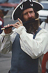 REVOLUTIONARY RE-ENACTOR PLAYS FLUTE ON STREETS OF DENVER