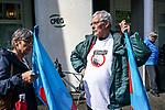 Gen&egrave;ve, le 04.05.2017<br /> Environ septante fonctionnaires se sont rassemblés, jeudi après-midi, devant les portes de la Caisse de prévoyance de l&rsquo;Etat de Genève (CPEG).
