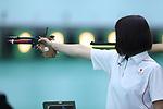 Akiko Sato (JPN), <br /> AUGUST 24, 2018 - Shooting : <br /> Women's 10m Air Pistol <br /> at Jakabaring Sport Center Shooting Range <br /> during the 2018 Jakarta Palembang Asian Games <br /> in Palembang, Indonesia. <br /> (Photo by Yohei Osada/AFLO SPORT)