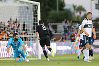 SAN JOSE, CA - AUGUST 24: Chris Wondolowski #8 of the San Jose Earthquakes celebrates scoring during a Major League Soccer (MLS) match between the San Jose Earthquakes and the Vancouver Whitecaps FC  on August 24, 2019 at Avaya Stadium in San Jose, California.