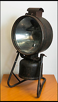 BNPS.co.uk (01202 558833)<br /> Pic: TomWren/BNPS<br /> <br /> Mid 20th century Tilley floodlight projector lamp.<br /> <br /> This is the 'Lady with the Lamp' whose impressive collection of 400 historic lamps has emerged for auction and is tipped to sell for &pound;10,000.<br /> <br /> Pamela Barnes and her husband Kenneth have amassed a remarkable haul of 19th and 20th century railway, naval and mining lamps.<br /> <br /> It all started 50 years ago when Mr Barnes, 90, gave up smoking and decided he needed another 'bad habit'. <br /> <br /> The couple picked up the lamps at second hand shops and would take them in their caravan to rallies across the south of England.