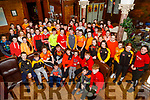 Students from Gaelcholaiste Chiarraí wearing Orange for the charity Cycle Against Suicide in Collis Sandes House on Friday.