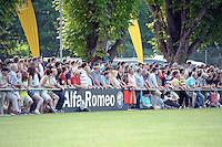 FAns im Hoechster Sportpark - Eintracht Frankfurt vs. VfR Aalen