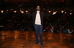 "Carvens Lissaint during The Rockefeller Foundation and The Gilder Lehrman Institute of American History sponsored High School student #eduHam matinee performance of ""Hamilton"" Q & A at the Richard Rodgers Theatre on December 5,, 2018 in New York City."