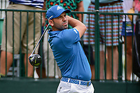Sergio Garcia (ESP) watches his tee shot on 10 during Wednesday's preview of the PGA Championship at the Quail Hollow Club in Charlotte, North Carolina. 8/9/2017.<br /> Picture: Golffile | Ken Murray<br /> <br /> <br /> All photo usage must carry mandatory copyright credit (&copy; Golffile | Ken Murray)