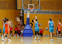 29th November 2019; Bendat Basketball Centre, Perth, Western Australia, Australia; Womens National Basketball League Australia, Perth Lynx versus Southside Flyers; Rebecca Cole of the Southside Flyers takes a free throw as the Perth Lynx cheer squad try to put her off - Editorial Use