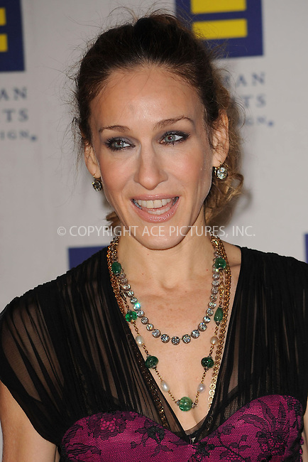 WWW.ACEPIXS.COM . . . . . ....February 6 2010, New York City....Actress Sarah Jessica Parker arriving at the 9th annual Greater New York Human Rights Campaign Gala at The Waldorf Astoria on February 6, 2010 in New York City.....Please byline: KRISTIN CALLAHAN - ACEPIXS.COM.. . . . . . ..Ace Pictures, Inc:  ..tel: (212) 243 8787 or (646) 769 0430..e-mail: info@acepixs.com..web: http://www.acepixs.com