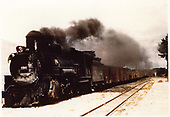 3/4 fireman side view of K-37 #490 hauling freight.<br /> D&amp;RGW