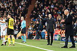 Borussia Dortmund Head Coach Peter Bosz gestures during the Europe Champions League 2017-18 match between Real Madrid and Borussia Dortmund at Santiago Bernabeu Stadium on 06 December 2017 in Madrid Spain. Photo by Diego Gonzalez / Power Sport Images