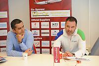 SCHAATSEN: Team Corendon, Corendon directeur Atilay Uslu, Jan van Veen, ©foto Martin de Jong