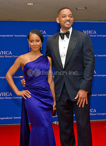 Actors Jada Pinkett Smith, left, and Will Smith arrive for the 2016 White House Correspondents Association Annual Dinner at the Washington Hilton Hotel on Saturday, April 30, 2016.<br /> Credit: Ron Sachs / CNP<br /> (RESTRICTION: NO New York or New Jersey Newspapers or newspapers within a 75 mile radius of New York City)/MediaPunch