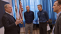 An Inconvenient Sequel: Truth to Power (2017)<br /> (Left to right) Al Gore with SolarCity CTO and Co-founder Peter Rive, CEO and Co-founder Lyndon Rive, and Executive Vice President Marco Krapels in Silicon Valley, California <br /> *Filmstill - Editorial Use Only*<br /> CAP/FB<br /> Image supplied by Capital Pictures
