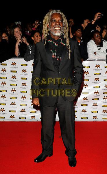 BILLY OCEAN.MOBO Awards at Wembley Arena, London, England. .October 15th, 2008 .MOBOS music of black origin full length black suit dreadlocks hair beard facial hair .CAP/CAN.©Can Nguyen/Capital Pictures.