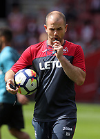 Swansea Fitness coach, Karl Halabi during the Premier League match between Southampton and Swansea City at the St Mary's Stadium, Southampton, England, UK. Saturday 12 August 2017