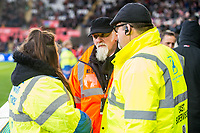 Stewards talking <br /> Re: Behind the Scenes Photographs at the Liberty Stadium ahead of and during the Premier League match between Swansea City and Bournemouth at the Liberty Stadium, Swansea, Wales, UK. Saturday 25 November 2017