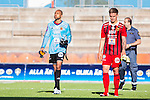 S&ouml;dert&auml;lje 2015-08-01 Fotboll Superettan Assyriska FF - &Ouml;stersunds FK :  <br /> &Ouml;stersunds m&aring;lvakt Aly Keita deppar med Dragan Kapcevicefter matchen mellan Assyriska FF och &Ouml;stersunds FK <br /> (Foto: Kenta J&ouml;nsson) Nyckelord:  Assyriska AFF S&ouml;dert&auml;lje Fotbollsarena Superettan &Ouml;stersund &Ouml;FK depp besviken besvikelse sorg ledsen deppig nedst&auml;md uppgiven sad disappointment disappointed dejected