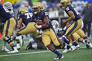 Annapolis, MD - September 8, 2018: Navy Midshipmen running back CJ Williams (20) runs the football during game between Memphis and Navy at  Navy-Marine Corps Memorial Stadium in Annapolis, MD. (Photo by Phillip Peters/Media Images International)