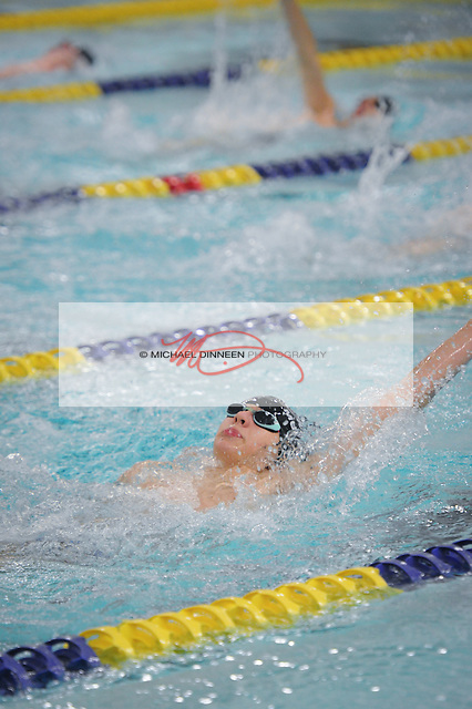 Chugiak's Dalton Loudains performs in the 200 IM at the Big Eight Swimming and Diving meet Saturday, August 20, 2016.  Photo for the Star by Mcihael Dinneen