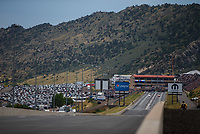 Jul 23, 2017; Morrison, CO, USA; Overall view of Bandimere Speedway during the NHRA Mile High Nationals. Mandatory Credit: Mark J. Rebilas-USA TODAY Sports