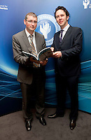 "**** NO FEE PIC***.12/04/2012 .Dr. Shane Kilcommins UCC,.Prof Anthony Pemberton International Victimology Institute Tilburg.during a conference on the ""The EU Directive on Victims Rights: Opportunities and Challenges for Ireland"" hosted by the the Irish Council for Civil Liberties (ICCL) in Dublin Castle..Photo: Gareth Chaney Collins"