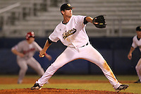 Western Michigan Broncos pitcher Troy Forton #16 delivers a pitch during a game against the Illinois State Redbirds at Chain of Lakes Stadium on March 10, 2012 in Winter Haven, Florida.  Illinois State defeated Western Michigan 10-9.  (Mike Janes/Four Seam Images)