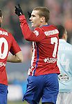Atletico de Madrid's Antoine Griezmann celebrates goal during Spanish Kings Cup match. January 27,2016. (ALTERPHOTOS/Acero)