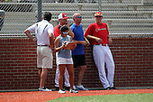 Coaches and staff including Steve Benrhardt and Billy Ripken for the Under Armour All-American Game at Les Miller Field on August 13, 2010 in Chicago, Illinois.  (Copyright Mike Janes Photography)