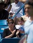 Roger Federer (SUI) defeats Tommy Haas (GER), 1-6, 7-5, 6-3 at the Western & Southern Open in Mason, OH on August 15, 2013.