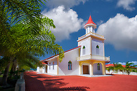 Anau Maohi Prtestant Church. Bora Bora. French Polynesia.