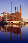 An electrical power plant, Boston, MA