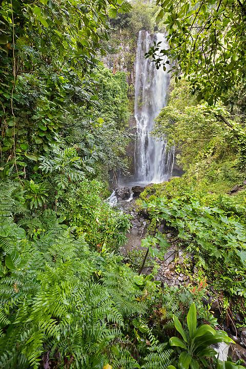 Wailua Waterfall, near Hana, Maui, Hawaii.