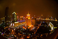 Overview of the Lujiazui Financial District, Pudong section of Shanghai, China
