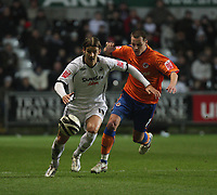 Pictured: Andrea Orlandi of Swansea City in action<br /> Re: Coca Cola Championship, Swansea City FC v Reading at the Liberty Stadium. Swansea, south Wales, Saturday 17 January 2009<br /> Picture by D Legakis Photography / Athena Picture Agency, Swansea 07815441513