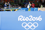 Jun Mizutani (JPN), <br /> AUGUST 7, 2016 - Table Tennis : <br /> Men's Singles Preliminary Round <br /> at Riocentro - Pavilion 3 <br /> during the Rio 2016 Olympic Games in Rio de Janeiro, Brazil. <br /> (Photo by Yusuke NakanishiAFLO SPORT)