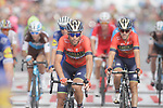 Vincenzo Nibali (ITA) Bahrain-Merida crosses the finish line at the end of Stage 6 of the La Vuelta 2018, running 150.7km from Hu&eacute;rcal-Overa to San Javier, Mar Menor, Sierra de la Alfaguara, Andalucia, Spain. 30th August 2018.<br /> Picture: Colin Flockton | Cyclefile<br /> <br /> <br /> All photos usage must carry mandatory copyright credit (&copy; Cyclefile | Colin Flockton)