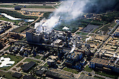 Vitoria, Brazil. Aerial view of the Aracruz paper factory.
