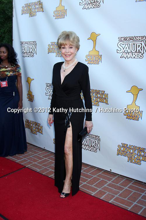LOS ANGELES - JUL 26:  Barbara Eden arrives at the 2012 Saturn Awards at Castaways on July 26, 2012 in Burbank, CA