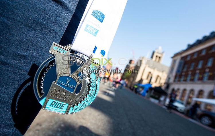 Picture by Allan McKenzie/SWpix.com - 06/05/2018 - Cycling - Maserati Human Race Sportive, Leeds, England - Sportive medal.