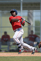 Boston Red Sox Franklin Guzman (28) during a minor league spring training game against the Baltimore Orioles on March 18, 2015 at Buck O'Neil Complex in Sarasota, Florida.  (Mike Janes/Four Seam Images)