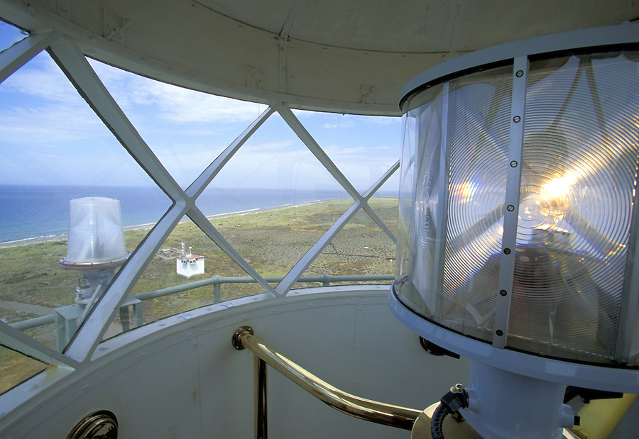 Interior view from New Dungeness Lighthouse, Dungeness Spit, Dungeness National Wildlife Refuge, Sequim, Washington