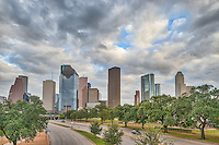 We captured this photo on  a walk over bridge over the Allen Parkway of the downtown Houston skyline.  It was another nice view of the cityscape of Houston.