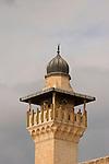 Israel, Jerusalem Haram esh Sharif, the minaret of the Women's Mosque<br />