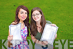 TOP MARKS: Celebrating their Leaving Cert results on Wednesday at Presentation Secondary School in Tralee were l-r: Sinead C. O'Mahony, who got seven A1 grades and Emer Jones who got a total of ten As.
