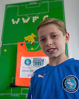 Ballboy Taylor Hunt enjoys the day as Ballboy Taylor Hunt  at Wycombe Wanderers Training Ground, High Wycombe, England on 25 August 2015. Photo by Andy Rowland.