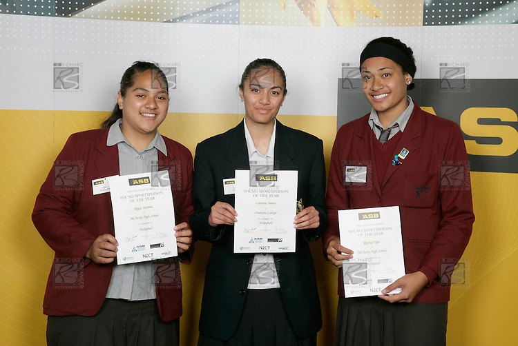 Volleyball Girls Finalists. ASB College Sport Young Sportsperson of the Year Awards 2006, held at Eden Park on Thursday 16th of November 2006.<br />