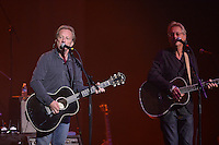 HOLLYWOOD, FL - NOVEMBER 18: English-American folk rock band Gerry Beckley and Dewey Bunnell of America performs at Hard Rock Live! in the Seminole Hard Rock Hotel & Casino on November 18, 2012 in Hollywood, Florida. © MPI10/MediaPunch Inc /NortePhoto