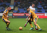 Bolton Wanderers' Craig Noone competing with Wigan Athletic's Sam Morsy<br /> <br /> Photographer Andrew Kearns/CameraSport<br /> <br /> The EFL Sky Bet Championship - Bolton Wanderers v Wigan Athletic - Saturday 1st December 2018 - University of Bolton Stadium - Bolton<br /> <br /> World Copyright © 2018 CameraSport. All rights reserved. 43 Linden Ave. Countesthorpe. Leicester. England. LE8 5PG - Tel: +44 (0) 116 277 4147 - admin@camerasport.com - www.camerasport.com